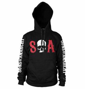 Hoodie Sons Of Anarchy - S-O-A Logo Hoodie Sweatshirt Man Hybris