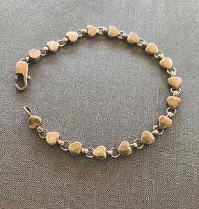 tiffany co heart link bracelet