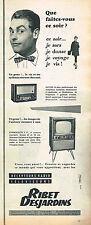 PUBLICITE ADVERTISING 014   1956   RIBET-DESJARDINS  téléviseur récépteur radio