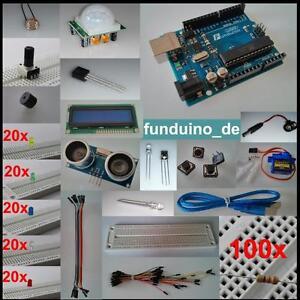 Umfangsreiches Set für Arduino mit UNO R3, über 250 Teile, Sensoren, Aktoren,NEU