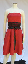 Junior's Red Strapless Semi-Formal Party Dress with Lace Detail Sz 13-14 EUC!!