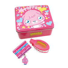 Moshi Monsters Pink Poppet Metal Lunch Box Keepsake Tin Hair Brush Ponios Clips