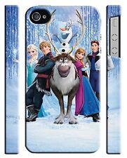 Iphone 4s 5 6 6S 7 8 X XS Max XR 11 Pro Plus Cover Case Frozen Snowman Elsa Olaf