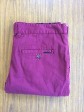 "BNWT Deacon Chinos Pants Kaplan Cherry Red Size 36"" RRP $89.95"