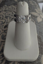 Stainless Steel ENGAGEMENT Ring Floating 2 CT Floating Cubic Zircona Size 5