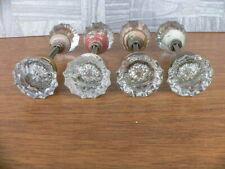 4 sets of Vintage Crystal Glass Door Knobs