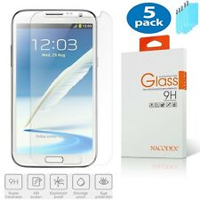 5x Nacodex For Samsung Galaxy Note 2 II N7100 HD Tempered Glass Screen Protector