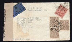 China 1945 cover from Chengta to London, airmail, censored mail R!R!R!
