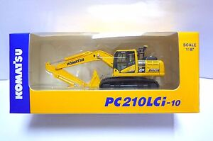 Komatsu Official Diecast Model Excavator PC210LCi-10 / 1:87 / Japan Exclusive