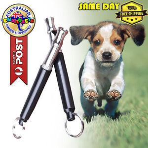 Pet Dog Training Whistle Adjustable Pitch Sound Puppy Anti Bark Australia