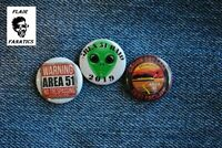 "Area 51 raid Storm 2019 Pin Pinback  Button 1"" alien Groom Dry Lake Dreamland"