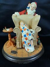 "Heirloom Norman Rockwell "" Christmas Dream "" Statue - Exquisite - Numbered Tall"