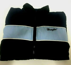 Wrangler Jacket Zip-up Reversible Retro Unisex *RARE* Blue Size S *FREE POSTAGE*