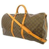 LOUIS VUITTON Keepall Bandouliere 60 Monogram Canvas Brown M41412 Travel Bag