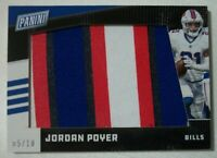 2019 Panini Day 4 Color Jumbo Patch Game Used Relic Jordan Poyer Bills 5/10 SSP