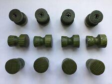 500 St. Möbelknöpfe aus Holz (Eiche), grün, Ø 24mm(21mm) x Höhe 31mm mit M4x8mm
