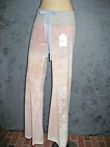 Claire Pettibone Pants Luxury Yoga Lounge wear Notre Dame Velvety Blush NWT M