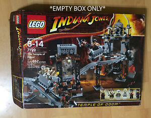 LEGO 7199 Indiana Jones Temple of Doom *EMPTY BOX ONLY* Replacement Part *READ*