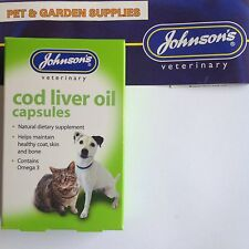 Johnsons Cod Liver Oil Capsules 170 Cats Dogs - Posted Same Day If Paidbefore1pm