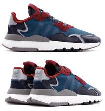 Nuevo adidas Originals Noche Corredor Zapatillas Informal Hombre Azul Todo Talla