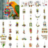 Acrylic Bird Toy Wood Blocks Parrot Chew Cage Ornaments Swing Rope Pet Bird Toys
