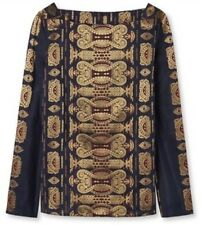 NWT $495 TORY BURCH longsleeved jacquard top Size 0