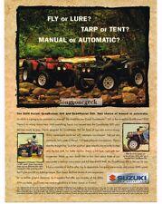 2000 SUZUKI Quadrunner, Quadmaster 500 ATV Vtg Print Ad