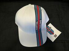 Genuine Martini Racing Stripe Baseball Hat/Cap, White, NEW