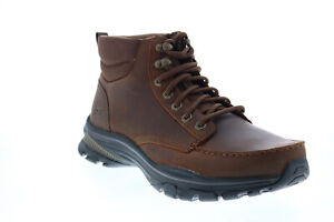 Skechers Ralcon Top Point 204207 Mens Brown Leather Lace Up Ankle Boots