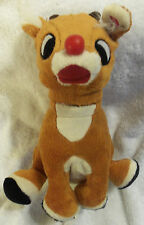 LOT # 1036 RUDOLPH THE RED-NOSED REINDEER PLUSH TOY (2011) 8 INCHES w/NON-WORKIN