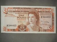 Gibraltar 1 Pound Banknote,1979 Choice Uncirculated ! Crisp! Gradable!