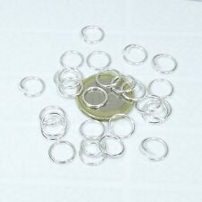 240 Anillas 10mm Abiertas  T126  Open Jump Rings Silver Perline Beads Perles