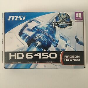 MSI  HD6450 1GB DDR3 Low Profile PCI-Express R6450-MD1GD3/LP Graphic Card