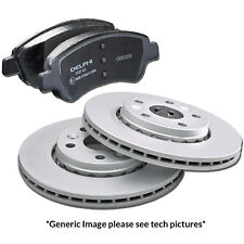 Genuine Delphi OE Spec Coated Peugeot 206 207 208 307 Front Discs and Pads Kit