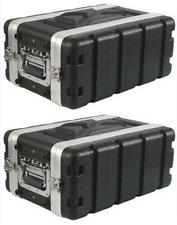 """(2 Pack) Rack Case 4U Space SHALLOW 8 Inch Deep Shell, ABS 19"""" Std, with screws"""