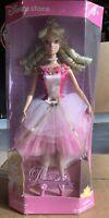 Disney Store Sleeping Beauty Ballerina Princess Aurora Barbie Doll w/Stand Rare