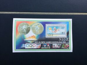 NIUE 1992 Barcelona Olympic Games Miniature Sheet - Mint Never Hinged