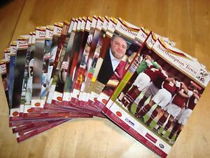 Full set of Northampton Town home programmes 2007-08 - 26 progs in all