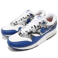 Atmos X Nike Air Max 1 Print We Love Nike White Blue Royal Mens Shoes AQ0927-100