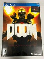 PS4 Doom Collector's Edition PlayStation 4 NEW SEALED Revenant Statue Steelbook