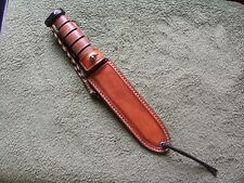 "Ka-Bar Knives 7"" LF Custom Leather Paddle Sheath (Marine, Army, etc)"