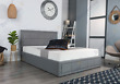Grey Ottoman Storage Bed Gas Lift Up Bed Frame 3ft, 4ft, 4ft6 Double, 5ft, 6ft