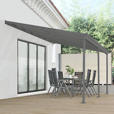 Terrassendach Terrassenüberdachung Vordach 4x3m Überdachung Aluminium Juskys®