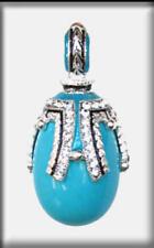 Collares y colgantes de joyería de turquesa en plata de ley de belleza