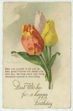 C. Klein, Flowers, Tulips, no. 371 Greetings Art Postcard, C042