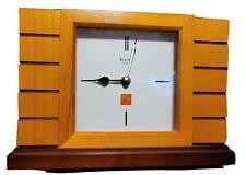 Bulova B1859 Frank Lloyd Wright White Dial Quartz Mantel Table Clock Works