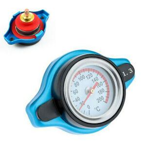 Car Thermostatic Gauge Radiator Cap 1.3 BAR Small Head Water Temp Meter New