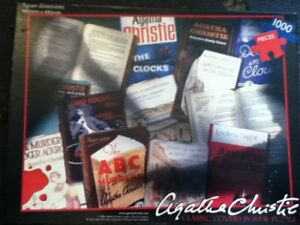 **Susan Prescot Games, Agatha Christie Vintage Crime Front Covers 1000 Pieces**