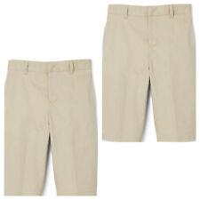2 - French Toast Boys Uniform Shorts size 6 Khaki Adjustable Waist Flat Front
