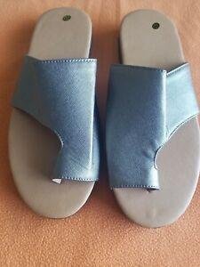 Women Comfy Platform Sandal Shoe Ankle Strap Peep Toe Correction Toe Khaki SZ 10